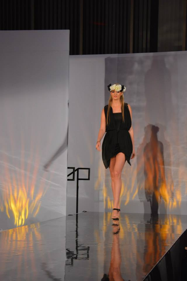 lynn university, fashion show, model, lbd, black , black dress, dress, model, sexy