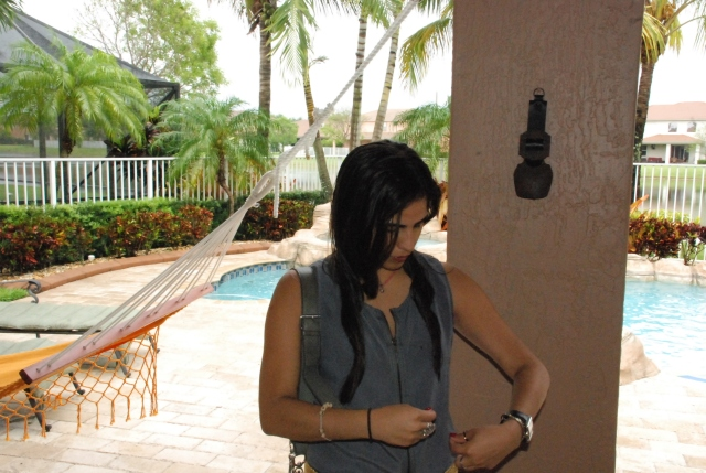 dress, outfit, ootd, androbel, miami, fashion, belts, gray